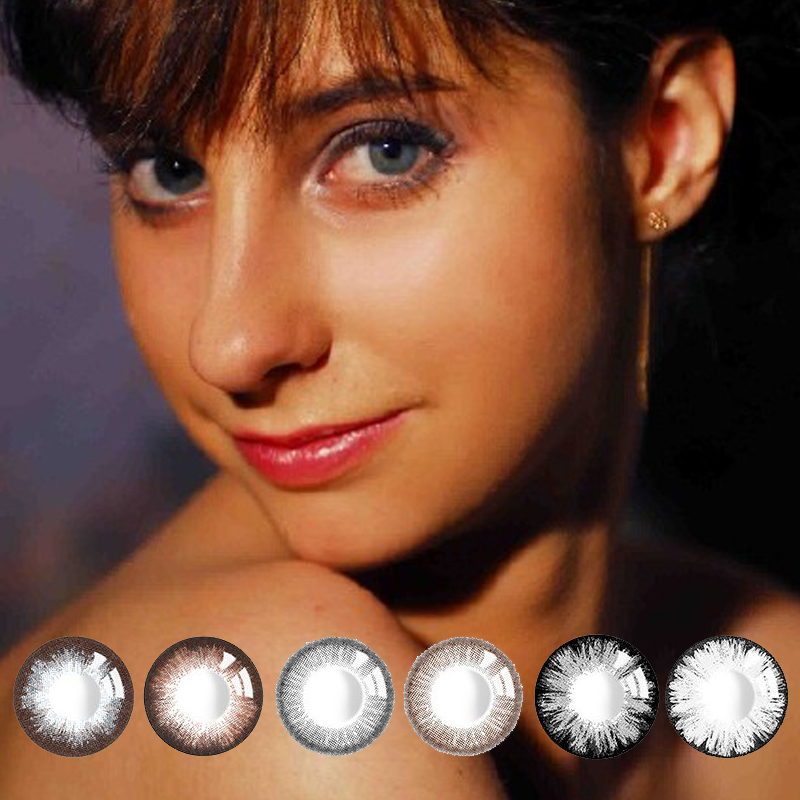 1 Pair Comfortable Monthly Beautiful Pupil Color Contact Lenses Female Path Cute Multicolor Party Gift Girl Decoration Cosplay