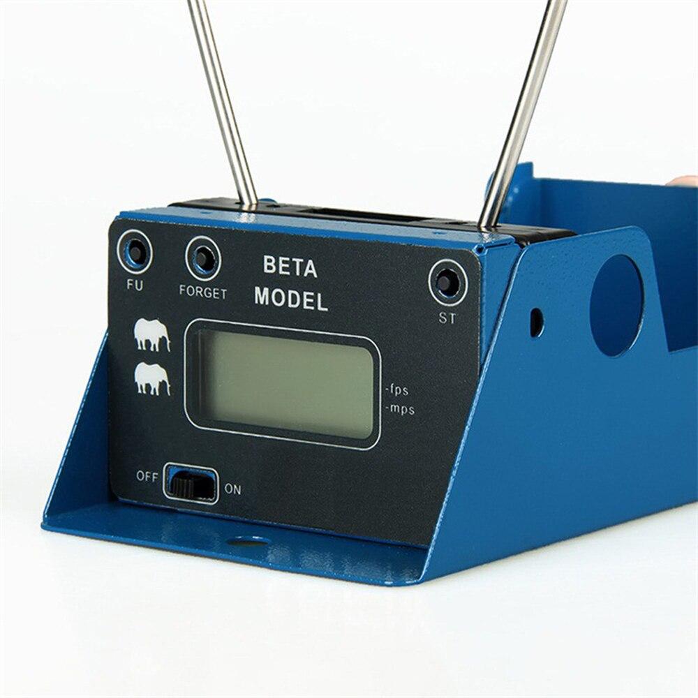 Meterk affichage mesure balle vitesse chasse au tir chronographe pliable testeur de vitesse velomètre compteur de vitesse avec deux capteurs
