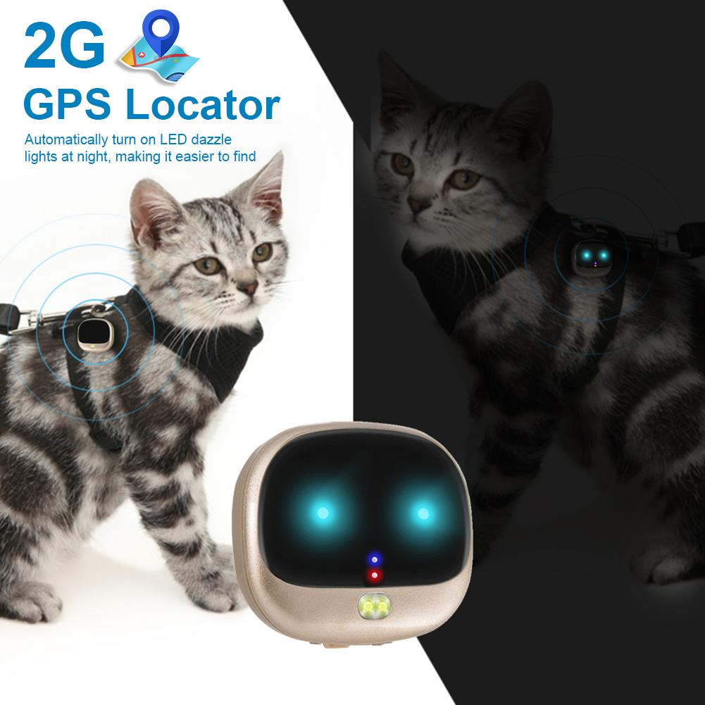 Pet Anti-Lost Positioner Electric Smart Collar for Dog Cat Smart Wearable Device Waterproof Mini GPS Locator for Little Kids Pet