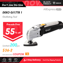 DEKO 220V Variable Speed Electric Multifunction Oscillating Tool Multi Tool With Accessories