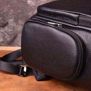 Image 2 - AETOONew mode sacs à dos en cuir véritable de haute qualité en cuir véritable homme coréen étudiant sac à dos garçon sacoche pour ordinateur portable professionnel
