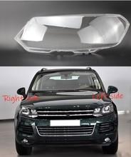 Dla Volkswagen VW Touareg 2011 2012 2013 2014 reflektor samochodowy pokrywa reflektor obiektyw Auto Shell cover tanie tanio DVFSLV Reflektory Headlamp Shell Polycarbonate (PC)
