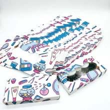Оптовая продажа бумажные ресницы упаковка мультфильм и кленовый