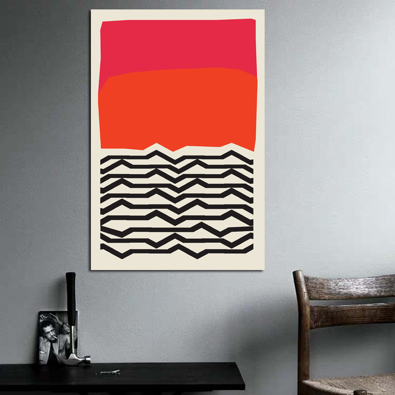 Nordic Modern Geometric Abstract Wave Fashion Style Canvas Painting Art Print Posters Pictures Wall Living Room Home Decoration