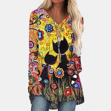2020 Новая женская Повседневная футболка с длинным рукавом цветочным