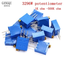 10PCS 3296 potentiometer Kit High Precision 3296W Variable Resistor 10R -2M 1M 50R 100R 200R 500R 1k 2k 5K 10K 20K 50K 100K 500k