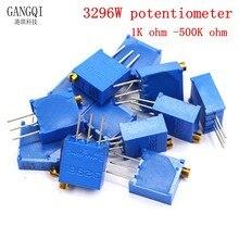 10PCS 3296 potentiometer Kit High Precision 3296W Variable Resistor 10R -2M 1M 50R 100R 200R 500R 1k 2k 5K 10K 20K 50K 100K 500k