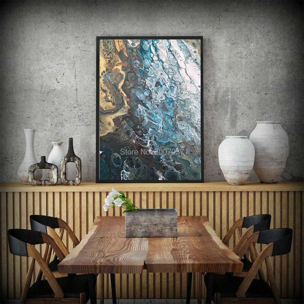 Seni Abstrak Lukisan Pantai Dekorasi Rumah Modern Kanvas Lukisan Cat Minyak Di Atas Kanvas Hadiah Dekorasi Dinding Ukuran Besar Pantai Rumah Seni kanvas