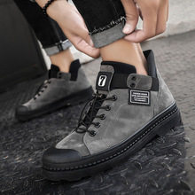 2019 Winter Men's Boots Warm PU Leather Male Waterproof Shoes Chaussure Mans Cas