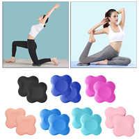 Esterilla de Yoga antideslizante, cojín para la rodilla, tabla de entrenamiento para ejercicio, gimnasio, cuadrada, 2 uds.