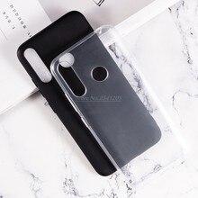 Caso de telefone transparente para itel s15 capa traseira coque escudo do telefone protetor silicone caso para itel s15 pro macio preto tpu