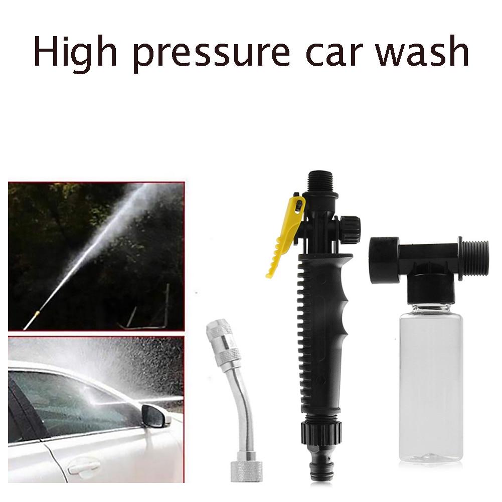 High Pressure Water Gun Metal Water Gun Car Washer Spray Garden Water Jet Pressure Washer Hose Wand Nozzle Sprinkler with Pot