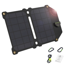 14W Foldable Solar Panel Portable 5V 2.4A Dual Usb Solar Charger Outdoor Camping Solar Conversion Charger For Outdoor Mobile Pho цена