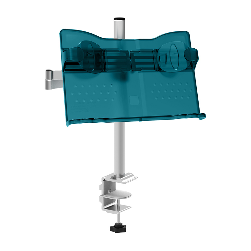 Multifunctional Desk-type Folding Reading Frame Head-up Reading Shelf with Telescopic Single-hand Book-turning Book Support