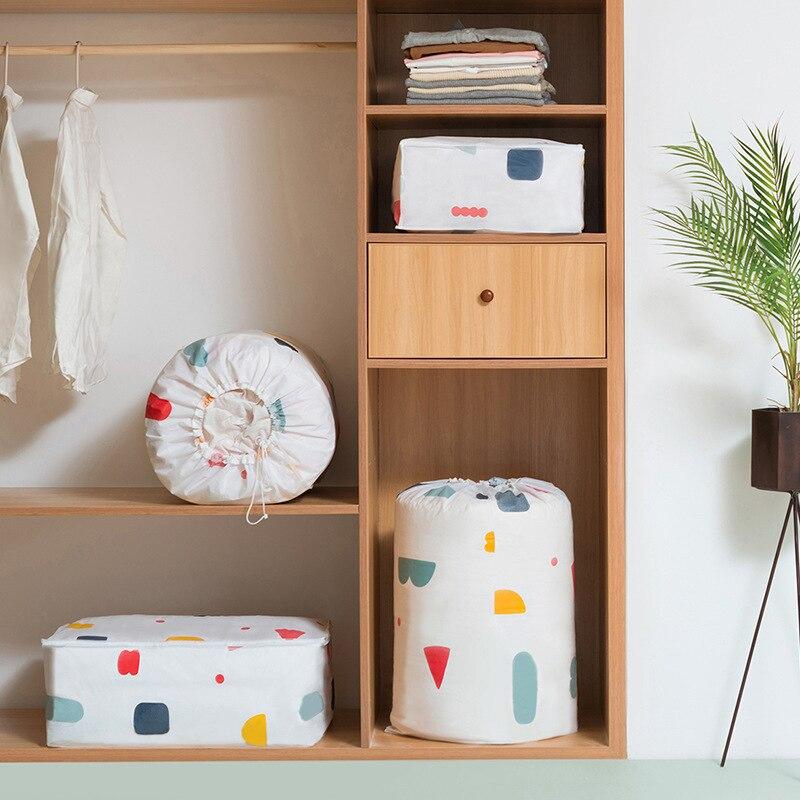 2019 Household Cylinder Quilt Storage Bag Moisture-proof Drawstring