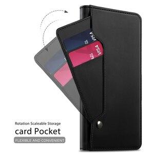 Image 3 - עבור OnePlus 8 פרו מקרה עור מפוצל Flip Stand ארנק מלא גוף כיס מגנט אבזם מראה כיסוי עבור Oneplus 8 מקרה כרטיס חריצים