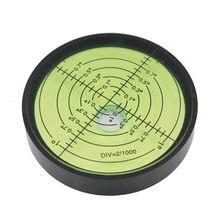 Haccury nível de bolha circular de metal, de alta precisão, nível de bolha, verde, 60mm de diâmetro, 12mm de altura