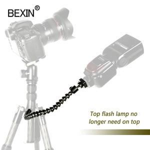 Image 2 - Staffa flessibile per braccio supporto per Flash pieghevole dslr supporto per staffa Flash per fotocamera supporto per flash per slitta calda per Flash LED