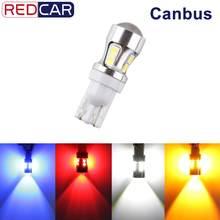 Ampoule Led T10 W5W 10SMD 3030, puces Canbus, sans erreur, LED 194 168, remplacement de cale, lampe de recul Automobile, 1 pièces