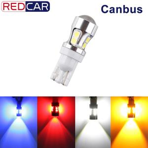 1pcs T10 W5W Led Bulb 10SMD 3030 Chips Canbus Error Free Auto LED 194 168 Wedge Replacement Reverse Lamp Automobile