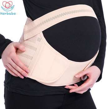 Herbabe 3in1 Maternity Belt Prenatal Care Athletic Bandage for Women Pregnant Corset Belly Bands Support Pregnancy Shapewear New
