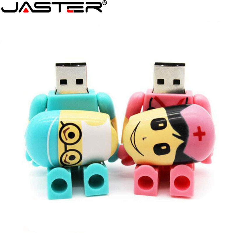 JASTER USB 2.0 Cartoon Usb Flash Drive Doctors Memory Stick Nurses Lovely Medical Pen Drive 4GB 8GB 16GB 32GB 64GB 128GB