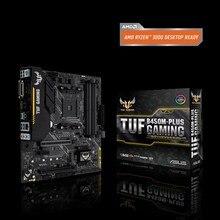ASUS TUF B450M-PLUS GAMIN B450M AMD B450 DDR4 3466 МГц, 32 Гбит/с M.2, HDMI 2.0b, type C, USB 3,1 Поддержка R3 R5 R7 R9 настольный процессор
