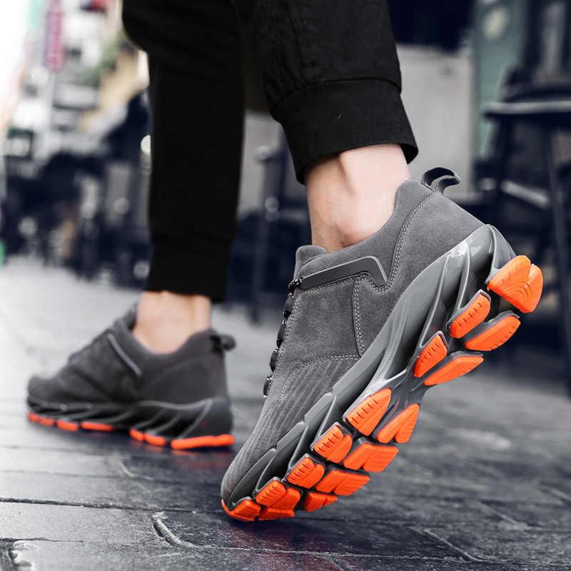 Erkekler bıçak ayakkabı nefes koşu ayakkabıları erkek Sneakers sönümleme şehir koşu spor ayakkabı açık eğitim ayakkabı spor Sneaker
