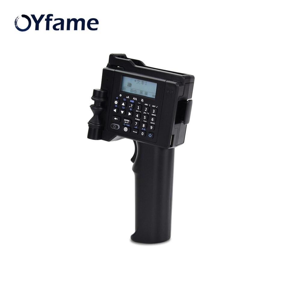 OYfame Portable Printer Handheld Printer 600 DPI Handheld Label Printer For Food Package Plastic Wood Metal Printer