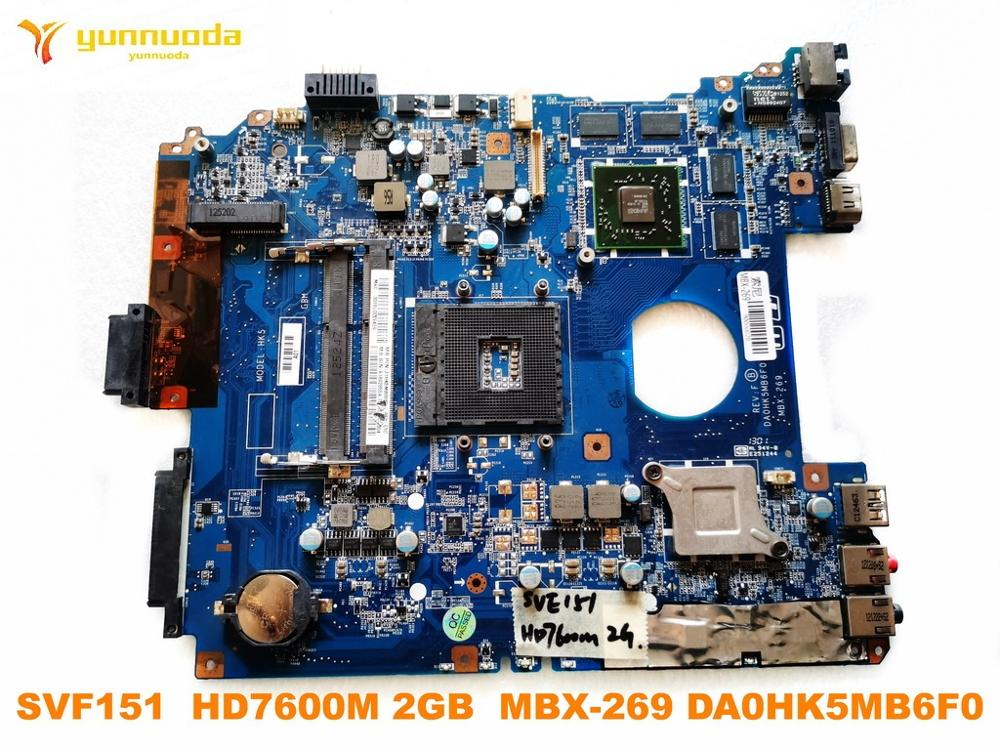 Original For SONY MBX-269 Laptop Motherboard SVF151  HD7600M 2GB  MBX-269 DA0HK5MB6F0 Tested Good Free Shipping