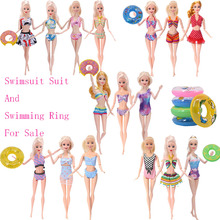 Doll Swimsuit Barbies Clothes Clothing-Accessories for Cocktail Daily Casual Swim-Ring-Combination