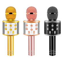 Ssmarwear WS 858 Aluminium Alloy Bluetooth Condenser Karaoke Microphone Wireless Mobile Phone Player MIC Speaker Record