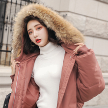 New 2019 Winter Casualfur Hooded Parka Women Sustans Wide Waisted Thick X Long Plus Size Zipper Solid Snow Jackets Coats Pockets