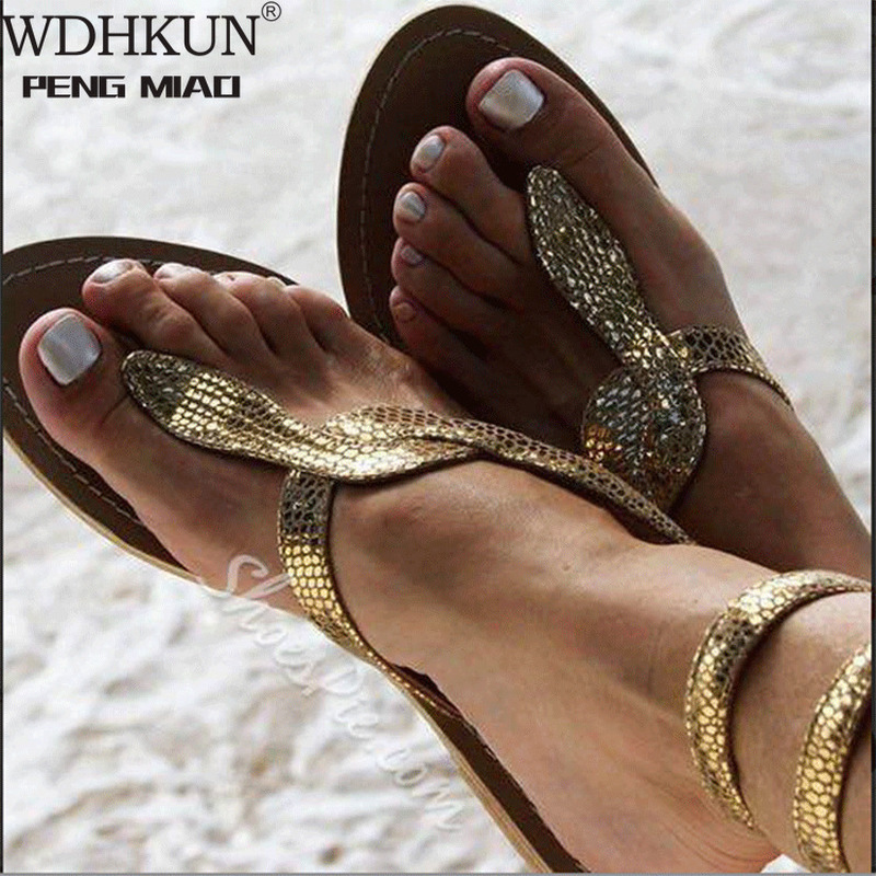 2020 New Summer Ladies Shoes Women Sandals White Flowers Flat Sandals Women Bohemian Casual Beach Shoes For Woman 42 43