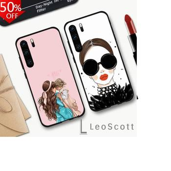 Fashion Family Woman Girl Super Mom Baby Phone Case For Huawei Honor Mate P 9 10 20 30 40 Pro 10i 7 8 A X Lite Nova 5t image