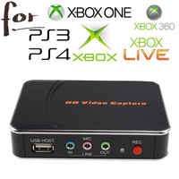 HD Game Video Capture 1080P HDMI YPBPR Recorder For XBOX One/360 PS3 /PS4 with One Click No PC Enquired No Any Set-up