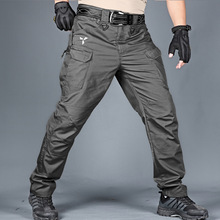 Cargo-Pants Military Tactical with Pockets Camouflage Men Elastic Outdoor