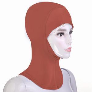 Image 5 - Hiyab gorro hiyab árabe musulmán, para debajo de la bufanda, Bonnet de hueso, pañuelo para la cabeza sólido Ninja, para la cabeza cubierta completa, oración islámica, novedad