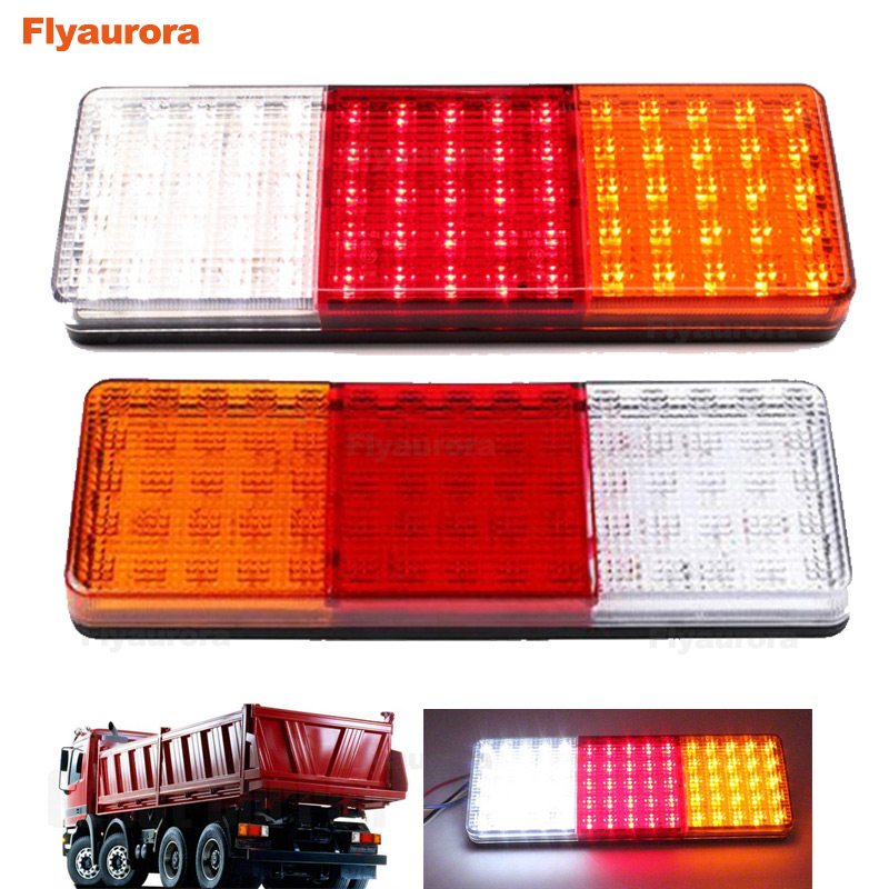 75 LED Car Truck Rear Tail Light Warning Lights Rear Lamps Stop Reverse Safety Indicator Fog Lights Trailer Caravans bus 12V 24V image