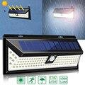 Наружный настенный светильник на солнечной батарее, 136 светодиодов, с датчиком движения, ночной Светильник для безопасности IP65, водонепрони...