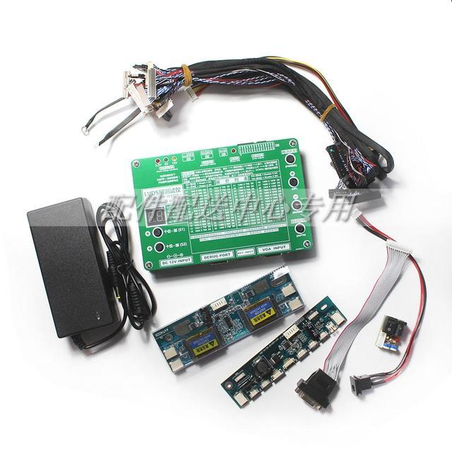 T 60S 6th Generazione del Computer Portatile Del Monitor TV LCD/LED Tester Pannello di Programmi di 60 w/ VGA DC Cavi LVDS Inverter HA PORTATO A Bordo 12v Adattatore