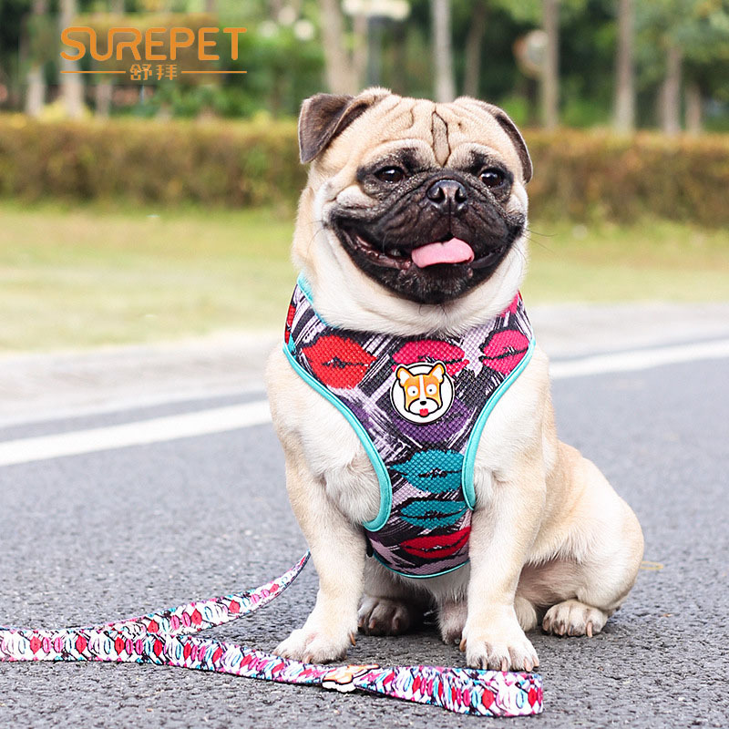 Surepet Pet Supplies Dog Proof Punch Sports Mesh Hand Holding Rope Vest Style Chest And Back
