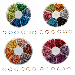 1080pcs 6mm Colorful Aluminum Jump Ring Opening Ring Split Ring DIY Jewelry Making Findings DIY Necklace Crafts Accessories