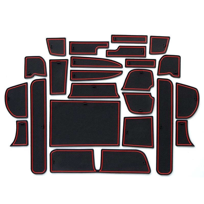 Anti-Slip Mat For HONDA FREED 2016 GB5 GB6 GB7 GB8 Gate Slot Coaster Anti-Dirty Door Groove Mat  Car Interiors Gel Pad Rubber
