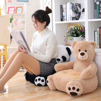 Cute Animals Learning to Sit Baby Sofa Cover Seat Support without Filler Comfortable Toddler Nest Puff without Filler Chair