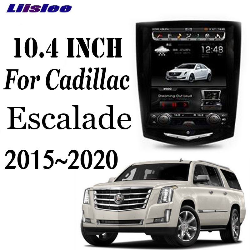 LiisLee Car Multimedia GPS Audio Radio CarPlay Stereo 10.4 Inch Screen For Cadillac Escalade GMT K2XL 2015~2020 Navigation NAVI image
