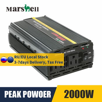 MSI1000 Max 2000 Peak Power Car Power Inverter DC 12V to AC 115V/220V Modified Sine Wave Car Inverter Voltage Transformer 1500w dc 12v to ac 220v 50hz modified wave power inverter 5v usb port