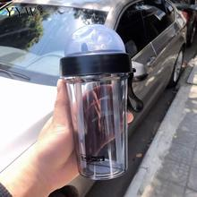 420ml Sports Water Bottle With Straw Drink Bottles Creative Couple Sippy Cups Coffee For Of A Cup Double