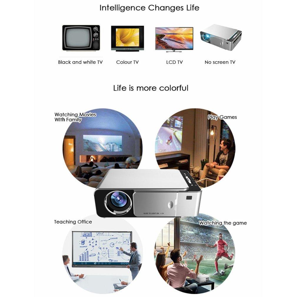 T6 fhd led projetor 4k 3500 lumens hdmi-compatível com usb 1080p portátil cinema proyector beamer display lcd versão normal-3