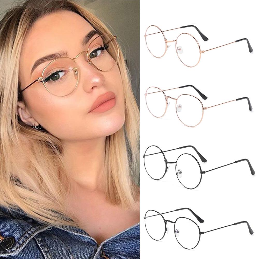 Ultralight Metal Anti Blue Light Glasses Women Men Vintage Round Eyeglasses Eye Protection Blue Ray Blocking Computer Goggles